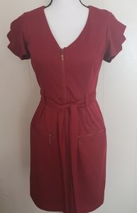 Jessica Simpson Red Career Work Dress Size 2
